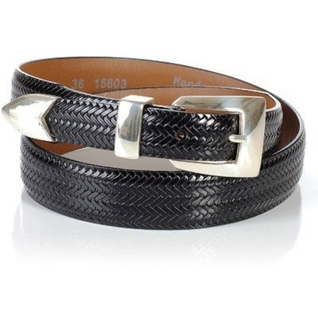 15603 Men's Brighton Avalon Basket Weave Black  Belt